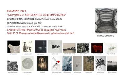Exposition «Gravures et sérigraphies contemporaines» du 20 mai au 02 juin 2021 – Galerie Peinture Fraîche, Paris